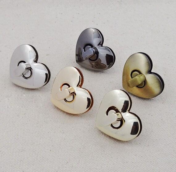 10sets 23mm  gold silver heart  twist turn snap purse lock purse supplier hardware accessories  NFL-016B