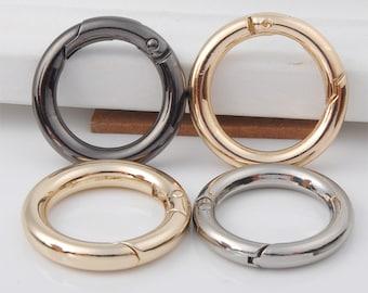Gunmetal Purse Spring Ring,Round Buckle,Handbag Hardware,Spring Buckle,Chain Buckle,Strap Buckle,Connector Buckle,Handbag Supply,Whole Sale