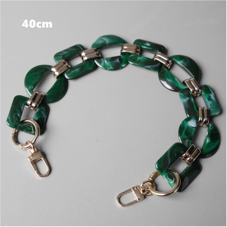 Acrylic Chain Resin Color Chain Plastic Chain Links Purse Handle Chain Bag Decorative Chain Bag Handle Bag Accessories Bag Making Supply