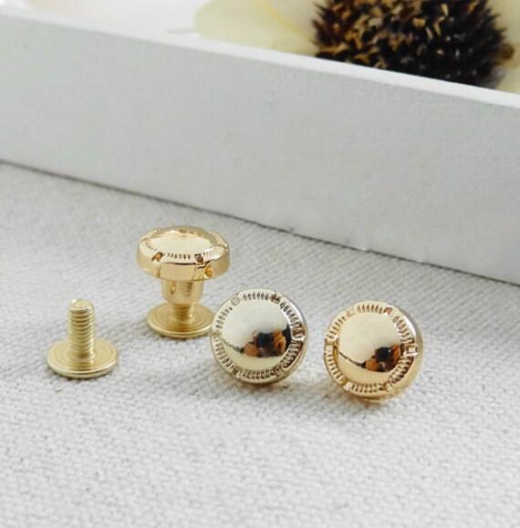 10st 10mm goldene vergoldete runde geldb rse schraube etsy. Black Bedroom Furniture Sets. Home Design Ideas