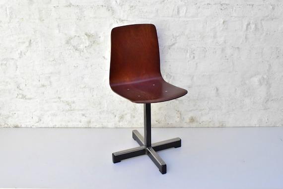 Vintage kinderstoel pagholz design mid century lage stoel