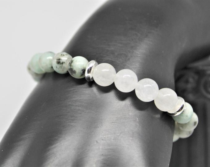 Gemstone beaded stacking bracelet, layering bracelet, elegant beaded accessory, unique gift idea, stretch bracelet, colorful accessory