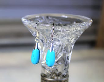 Turquoise earrings, drop earrings, silver earrings, dangle earrings