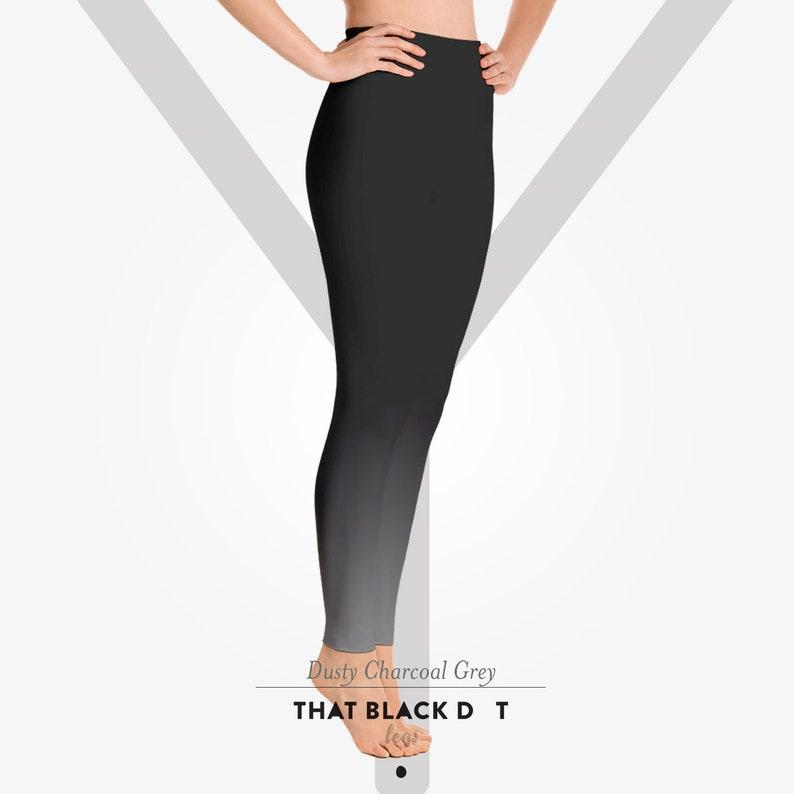 d0b26950a91f7 Charcoal Grey Ombré Yoga Pants US Free Shipping. That Black | Etsy