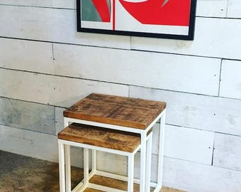 Rustic Reclaimed Nest Of Tables