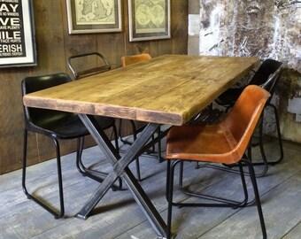 industrial dining table etsy rh etsy com Medieval Long Dining Table Fixer Upper Dining Rooms