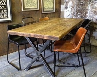Industrial Dining Table | Etsy