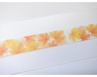 """Fall Autumn Maple Leaves Washi Tape Sample 24"""""""