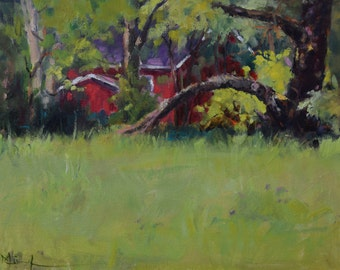 Plein Air Painting, Landscape Painting, Greenery