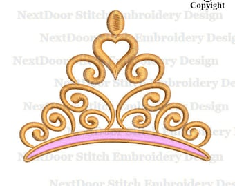 Crown Embroidery Design, filled stitch machine embroidery,  princess king queen download, prs-005-fill