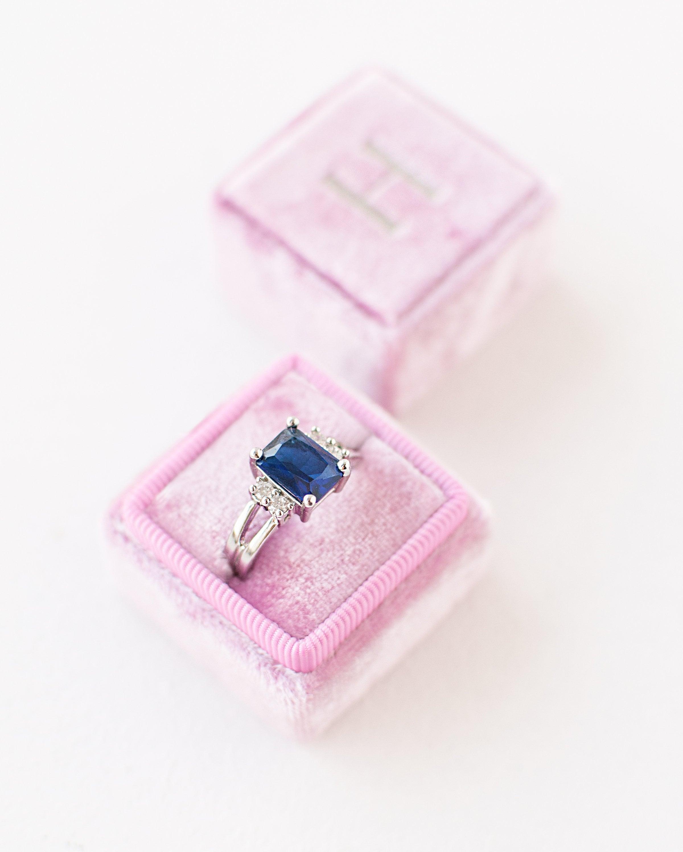 Ring Box Velvet Ring Box Vintage Style Engagement ring | Etsy