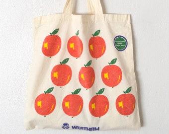 d0995f134 Vintage Apple Tote Bag Market Bag | Teacher Tote Bag | Teacher Appreciation  | Elementary School Bag | German Wertheim Bag