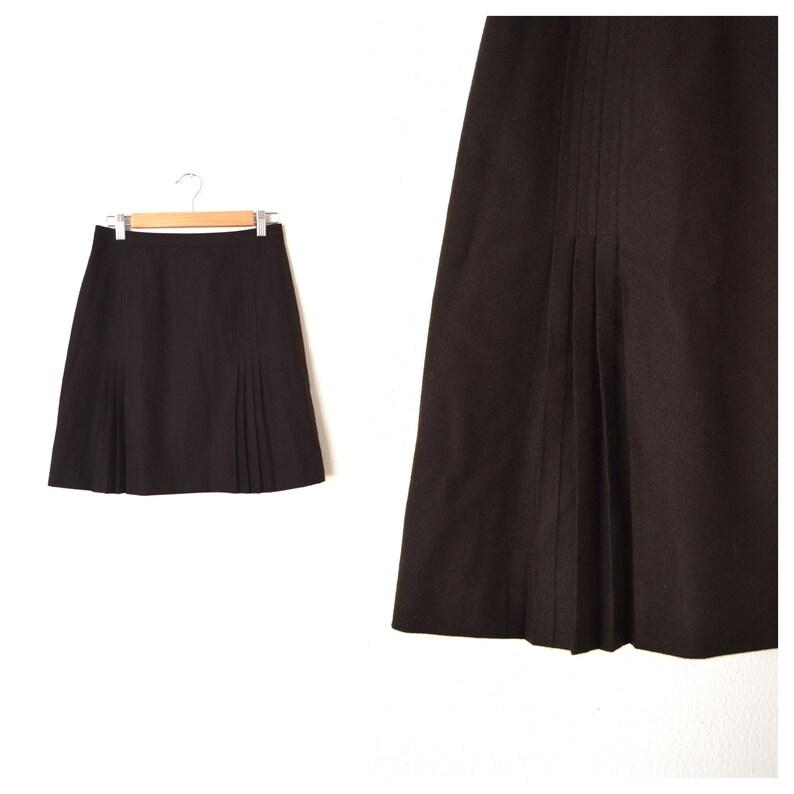 04b275c8c76 J CREW Wool Pleated Skirt Chocolate Brown Wool Pencil Skirt