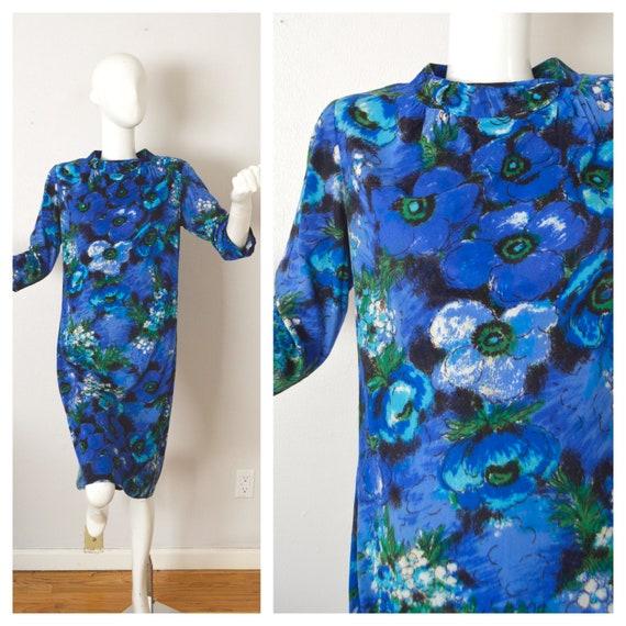 Mod 1960s Toni Todd Long Sleeve Mod Shift Dress