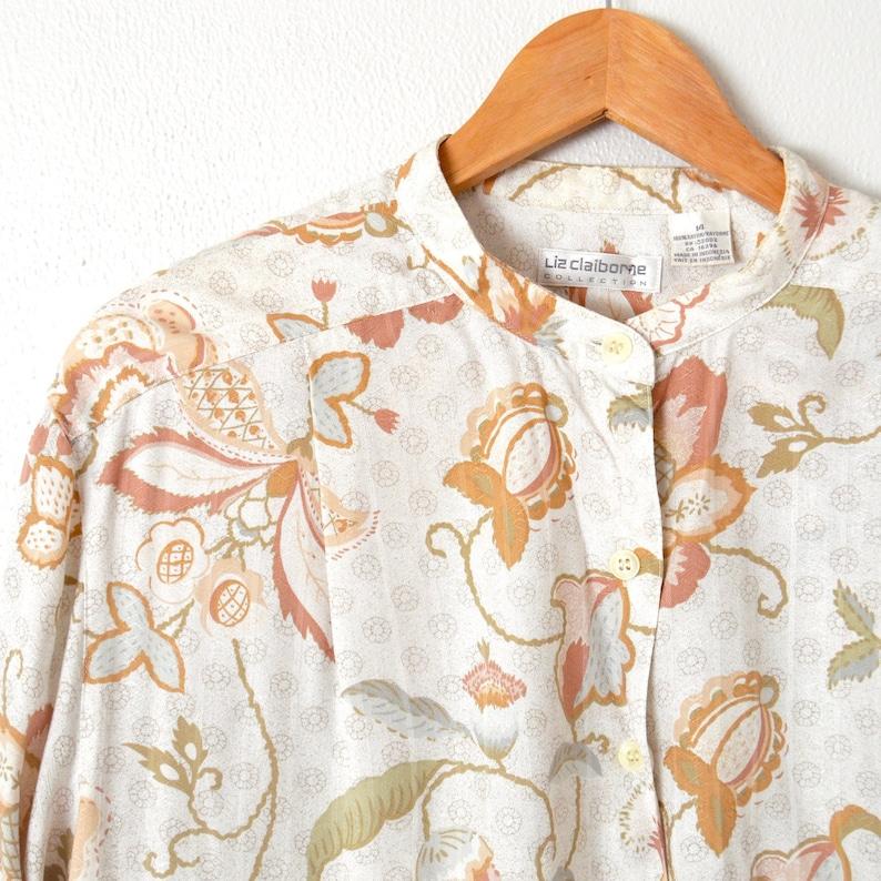 768f89d37cc366 Vintage LIZ CLAIBORNE Top Button Down Long Sleeve Floral | Etsy