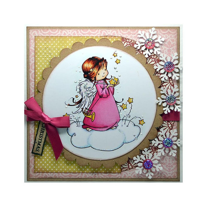 WINTER WISHES-Card Topper by Hobby HouseWee Stamps