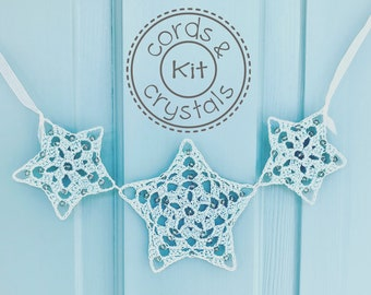 Star Crochet Kit with Swarovski Crystals - pattern included