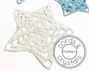 Star Crochet Pattern for Swarovski Crystals and S-lon cord