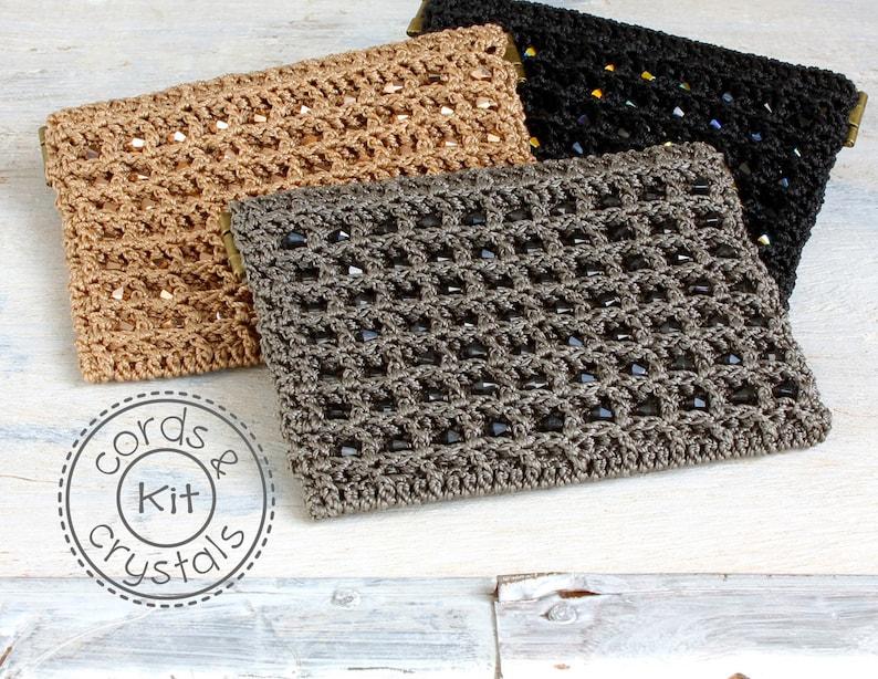 Crochet Crystal Purse Kit with Swarovski Crystals  pattern image 0
