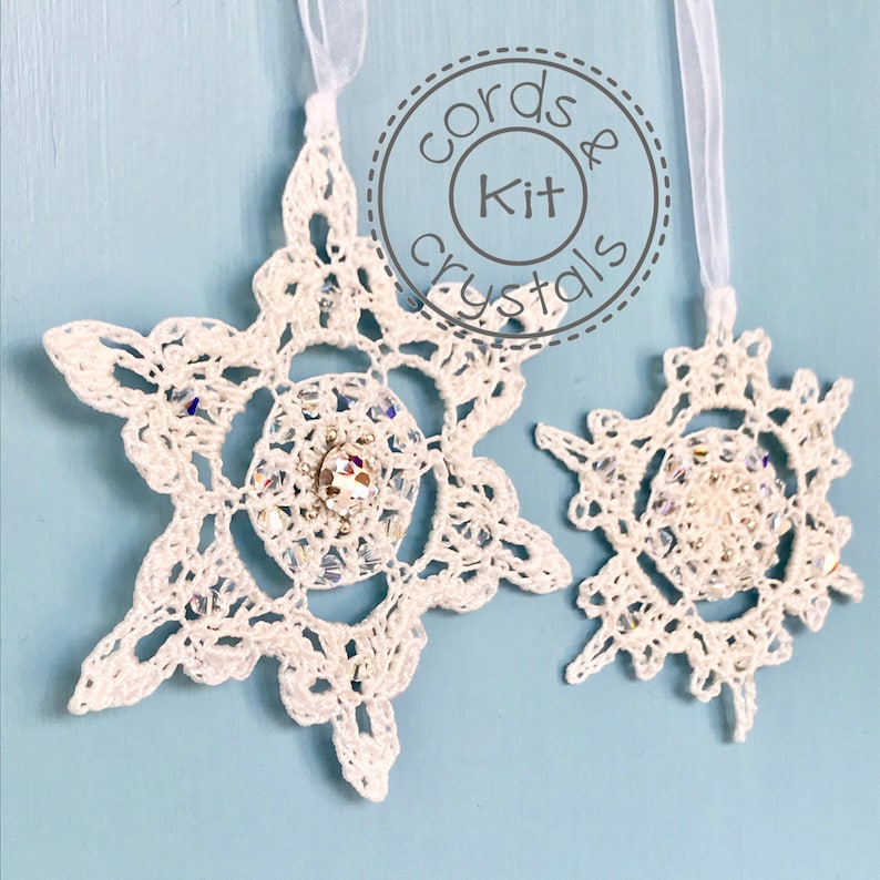 Snowflake Crochet Kit with Swarovski Crystals  pattern image 0