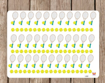 Tennis Planner Stickers | All Planners | |Journal, Notebook  L352