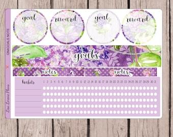 Ziele Notizen Seite Sticker   perfekt für April monatliche Notizen in Erin Tagebuchs Seite   GN4