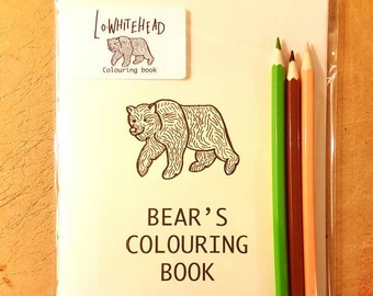 Homemade Mindfulness Bears Colouring Book For Adult Or Child A5 With Animals Bear Cat And Jellyfish