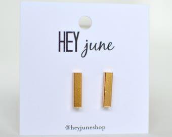 Gold Bar Earrings,  rose gold bar earrings, bar earrings, silver bar earrings, minimalist earrings, bar stud earrings