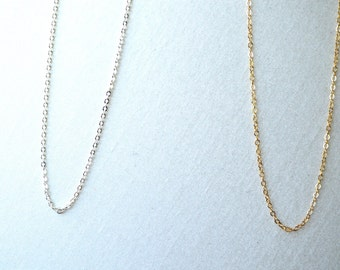 gold necklace chain, silver necklace chain, necklace chain only, 14k gold filled necklace chain, sterling silver necklace chain