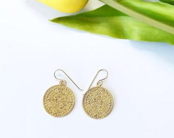 Coin Earrings, Vintage coin earrings, Kya earrings, Vintage jewelry, Unique Earrings,
