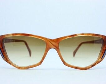 956b5dc156 Interoptica Vintage gafas de sol Nos Soleil Lux Rubio tortuga de 1970 los  gatos 57mm