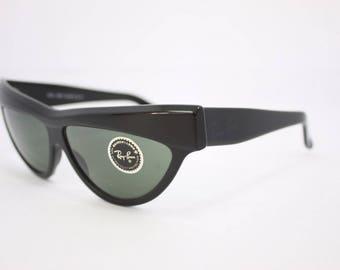 ce738e5937 Rayban Onyx B L Vintage WO807 G15 Black ONYX Ladies Sunglasses Cats