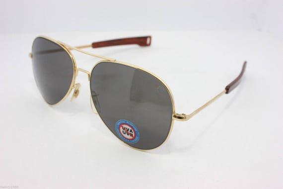a1fdc1a7a3 American Optical Skymaster Aviator Sunglasses 62mm Gold NOS