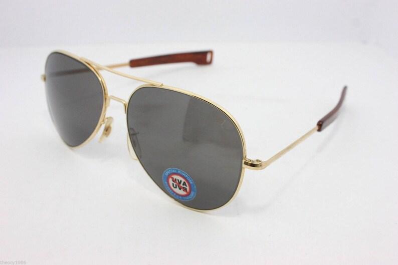 584b684438 American Optical Skymaster Aviator Sunglasses 62mm Gold NOS