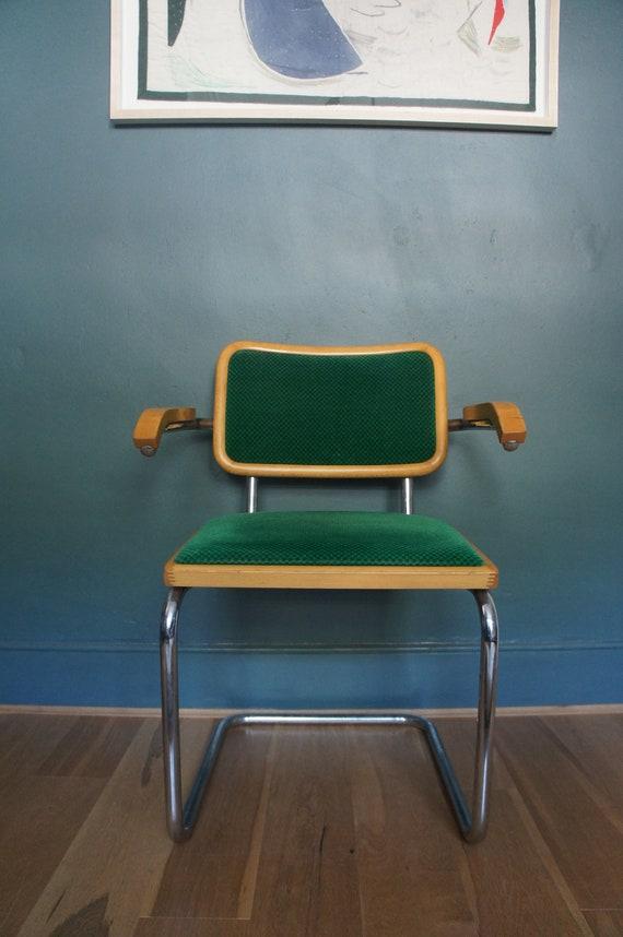 Vintage Marcel Breuer Cesca Inspired Upholstered Dining Chair