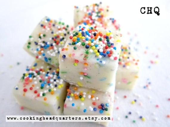 Superb Birthday Cake Fudge Recipe Handmade Gifts Cookbook Recipes Etsy Personalised Birthday Cards Paralily Jamesorg