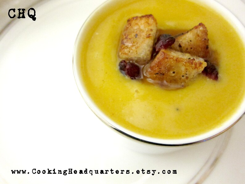 Creamy Butternut Squash Soup Recipe Healthy Cooking Homemade image 0