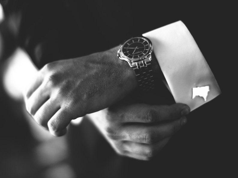 choose your material Michigan cufflinks groomsman gift!