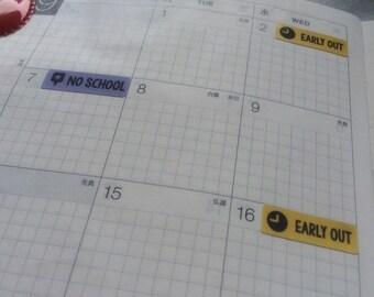 Student / Academic Planner Stickers - Hobonichi, Erin Condren, Filofax, Plum Planner, Midori, Traveler's Notebook