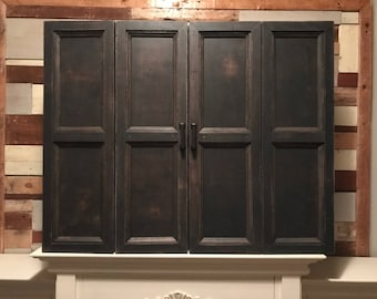 Cute Wall Mounted Tv Cabinet With Doors Plans Free