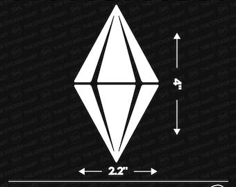 "The Sims Game Plum bob Logo 4""x2.2"" Vinyl Decal"