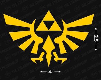 "Triforce Logo 4""x2.5"" Vinyl Decal"