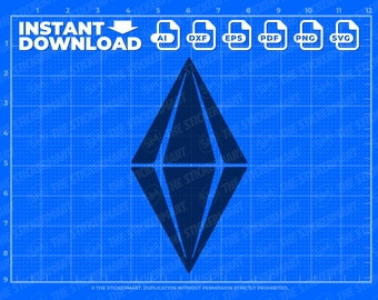 Plumbob Diamond SVG Instant Download