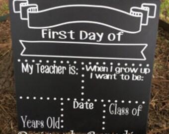 SALE!!! * * Back to school board // first day of school chalkboards // last day of school chalkboards //  personalized chalkboards