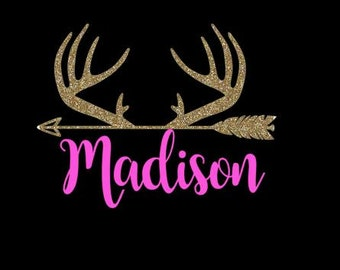 Personalized decal // Antlers Decal // Arrow decal // Yeti Decal // RTIC Decal // Laptop Decal // Deer decal //