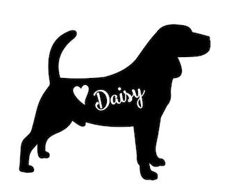 Beagle Decal // personalized Beagle decal // Beagle car decal // dog decal // personalized beagle