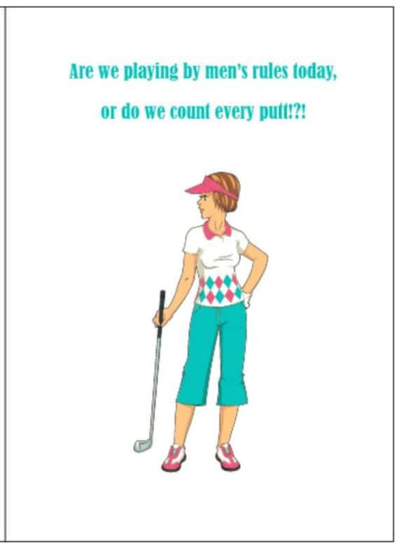 Golf Cards Golf Note Cards Ladies Golf Note Cards Women Etsy