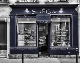 Sous le Cèdre - Window Shopping - Restaurant - Store Front - Paris - France - Photo - Print