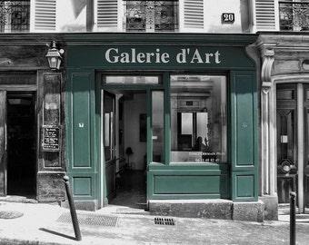 Galerie d'Art - Window Shopping - Store Front - Paris - France - Photo - Print