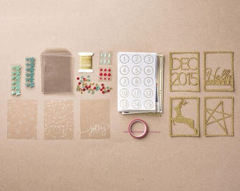 Stampin Up! Hello December 2015 Project Life Accessory Pack